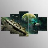 Impresión de la lona de arte de la lona de las imágenes del planeta de las naves espaciales de la impresión HD su decoración del sitio
