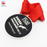 De Zwitserse Matte Zwarte Medaille van de Uitdaging van de Hond van de Schijf