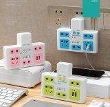 USBおよび4アウトレットが付いている規則的な力の電気ソケット力のタイミングのコンバーターのストリップ