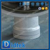 Vanne papillon excentrique d'acier du carbone de triple zéro de fuite de Didtek