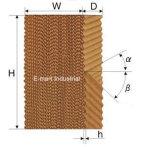 Пусковая площадка испарительной Corrugated целлюлозы воды Tuhe охлаждая