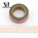 El día de tarjeta del día de San Valentín encantador modela la cinta adhesiva Mint de Washi de la hoja de oro de Rose del color