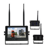 4CH Quad View 7 polegadas Tela Digital 2,4Ghz Multi-Camera Kit Sem Fios