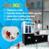 Una máquina Isb800-3 del moldeo por insuflación de aire comprimido del estiramiento de la inyección de la etapa (para las botellas 10ml-2000ml)