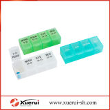 Organizador semanal do comprimido, 1 caixa plástica do comprimido da medicina do dia