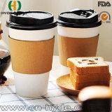 taza de café doble del papel de empapelar 16oz con la tapa (HDP-0911)