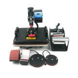 5 в 1 ручной машине печатного станка тенниски камня ткани кружки таблицы руки