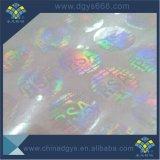 Bekleding van het Hologram van de douane de Transparante met Zwart Aantal en Gemakkelijke Destory