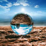 Artesanías cristal bola de cristal para la decoración del hogar y la fotografía fotos con diferentes dimensiones