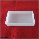Contenitore di vetro bianco latteo del quarzo fuso