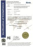 Artículo con valores identicos de validación del precio competitivo que hace la máquina con el certificado del SGS