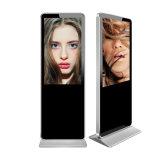 """실내 55 """" 자유로운 입상 LCD 디지털 Signage 4K 접촉 스크린 대화식 토템 간이 건축물"""
