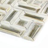 Серые стеклянные плитки мозаики для пола ванной комнаты кухни