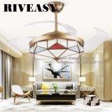 Luces de cobre del ventilador de techo de la pantalla de la cautela para la sala de estar del restaurante