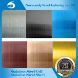 Le miroir de 430 couleurs poli a repéré la plaque d'acier inoxydable pour l'ascenseur