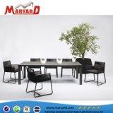 Jardin Mobilier de jardin moderne Table à manger ensemble Table à manger de la corde Président défini