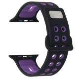 A banda de desporto de Silicone macio coloridos para Apple Assista Series3 2 1 38mm 42mm bracelete pulseira antiestática
