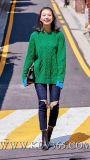 卸売の最新の方法は女性または女性冬のウールのカシミヤ織の偶然のセーターに着せる