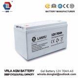 Heiße verkaufende Leitungskabel-saure Gel-Batterie der Sonnenenergie-Batterie-12V 70ah