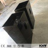 Glattes schwarzes Steinharz-festes freistehendes acrylsaueroberflächenbassin