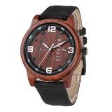 OEM montre à quartz de haute qualité Boîtier compact de poignet de regarder en bois pour les hommes et femmes