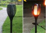 2018 Nuevo diseño de alta potencia de fuego solar lámpara de jardín