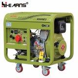 Air-Cooled тип открытой рамки 6kw генератор одиночного цилиндра тепловозный (DG8000E3)