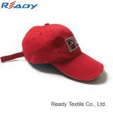 Venta caliente Gorra roja de bordado de logotipo personalizado