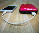 Echarge 지갑 호화로운 휴대용 힘 은행 및 신용 카드 상자