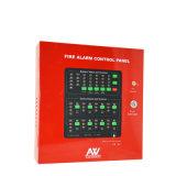 4つのゾーンの2ワイヤーが付いている慣習的な火災報知器のコントロール・パネル