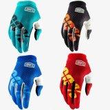 Il motocross protettivo del guanto di verde 100% MTB/BMX mette in mostra i guanti