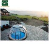 2018 Boîtier en aluminium Nouvelle piscine Spa et piscine avec toit polycarbonate
