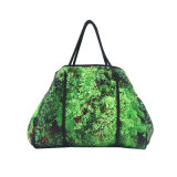 Banheira de venda de fábrica moderno saco de praia em neoprene quente para senhora com impressão de Árvore