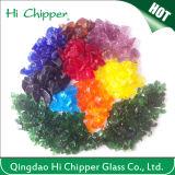 В размере 2,5-4.0мм дробленого стекла и битого стекла, стекла микросхемы, из вторсырья стекло для соединения на массу плитки