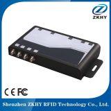 Zk-RFID403 UHFの固定4チャンネルの読取装置4ポートUHF RFIDの読取装置