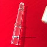 Claro personalizados de alta temperatura Tubo de vidrio de sílice para calefacción