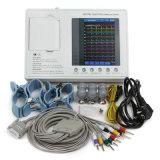 7 pouces à 3 canaux électrocardiographe Machine ECG 12 dérivations ECG
