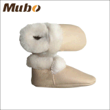 연약한 가죽 발바닥을%s 가진 귀여운 방수 겨울 양가죽 아기 신발