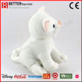 El gato blanco suave encantador del animal relleno de la felpa del juguete para el bebé embroma el juego