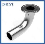 Courbure d'ajustage de précision de pipe sanitaire d'acier inoxydable coude long de Soudure-Triclamp de 90 degrés (DY-E027)