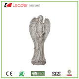 Statua diritta popolare della scultura del giardino di angelo di Polyresin per la decorazione del giardino e dell'iarda