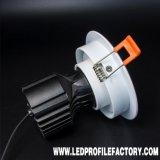 el punto de luces de la lámpara 20W LED Downlight LED del proyector de 12V LED enciende la MAZORCA cuadrada comercial LED ahuecada abajo de luz