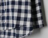 Frauen-verursachendes Plaid-Polo-Muffen-Hemd der Form-1top