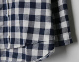 Top Fashion Mulheres Nexo Plaid Polo Camisa do Colar