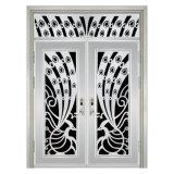 Puerta sólida del acero inoxidable de la maneta de puerta de entrada doble del acero inoxidable
