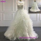 Vestidos nupciais da garganta completa de Tulle do laço dos vestidos de esfera da princesa Casamento