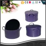 도매 원통 모양 가죽 저장 상자 (2208)