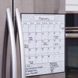 Insieme mensile reso personale del calendario di Erase asciutto dell'autoadesivo del frigorifero