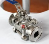 Литой корпус из нержавеющей стали быстро установить зажим три 3PC шаровой клапан