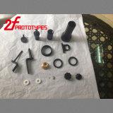 CNC zerteilt CNCaufbereitendes CNC-schnelle Prototyp-Maschinen-PlastikPlastikspritzen, das CNC, der Plastikteile aufbereitet, hohe Präzisions-Schwarz-Gummi anpaßte